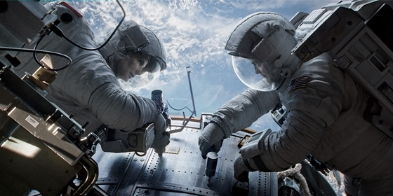 Sandra Bullock and George Clooney in Gravity - Image courtesy of Warner Bros 2013