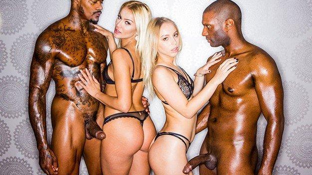 Filme pentru adulti cu doua blonde futute de negri . 7