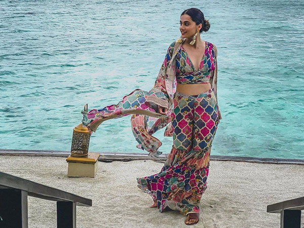 Taapsee Pannu heads back to Mumbai after a week-long vacay in Maldives