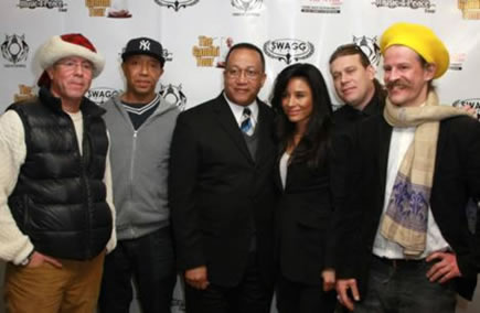 SMI/SwaggMedia Founder Craig Nobles, Hip-Hop Mogul Russell Simmons, legendary civil rights activist Dr. Ben Chavis, Goodwill Ambassador Baroness Kimberly Moore, Wayne Warwick Williams, and Tobias Huber.