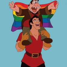 DISNEY LE TONT E GASTON LGBT