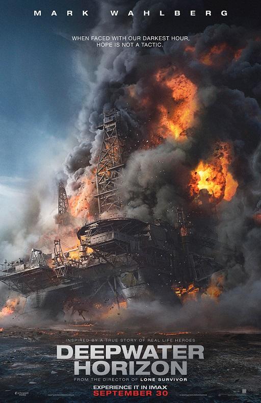 Poster Deepwater Horizon met Mark Wahlberg