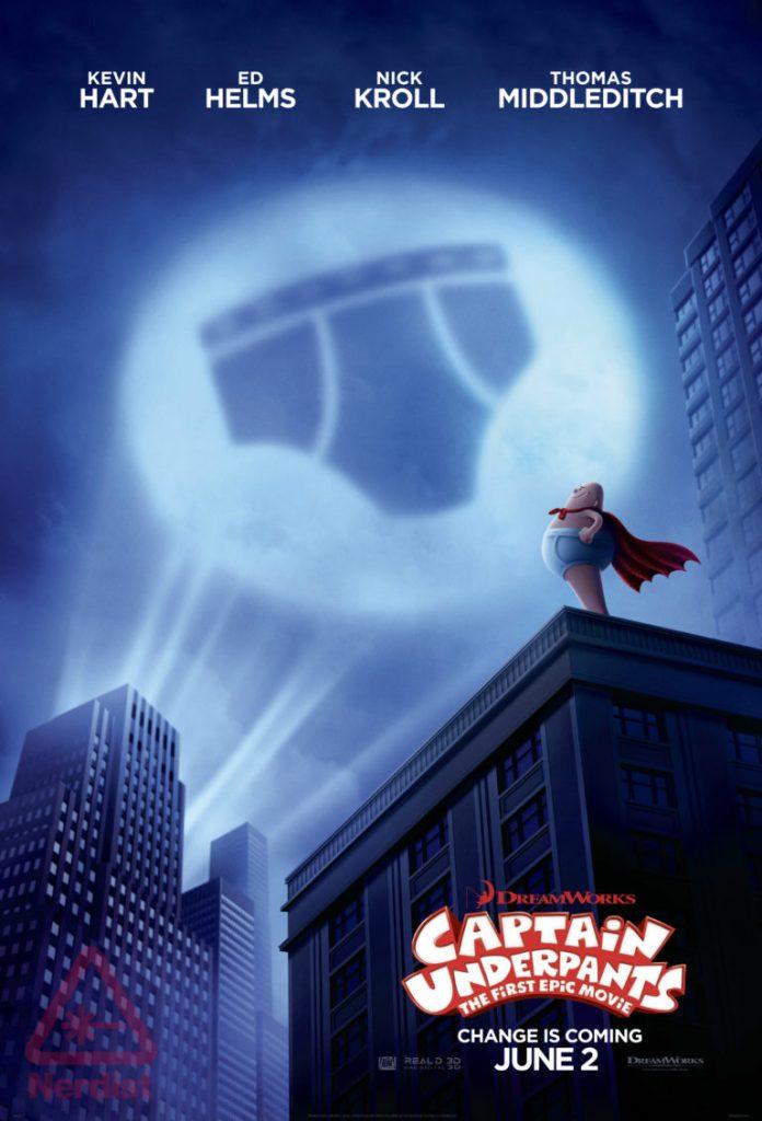 Nieuwe Captain Underpants poster