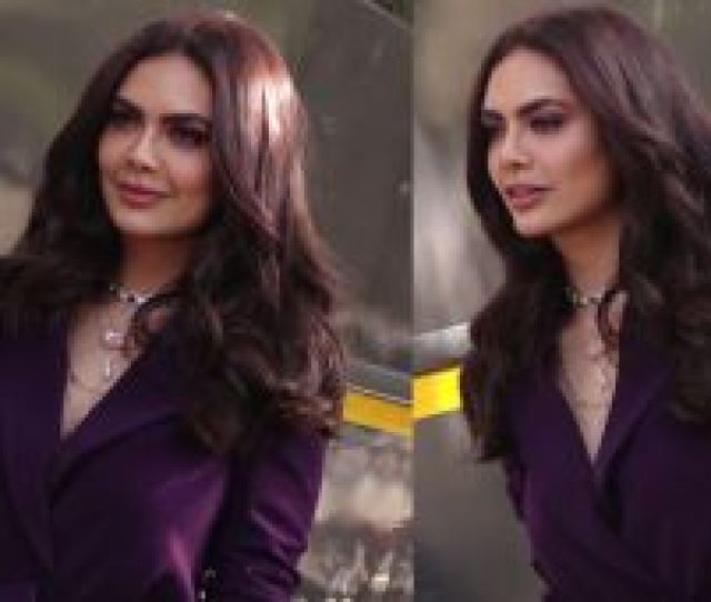 Esha Gupta Looks Sensual In Purple Outfit At Launch Of Her New Music Video Check