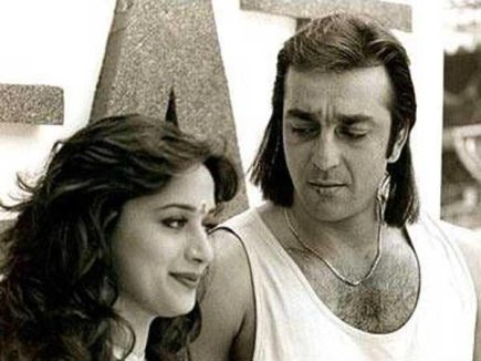 Image result for images of madhuri dixit and sanjay dutt