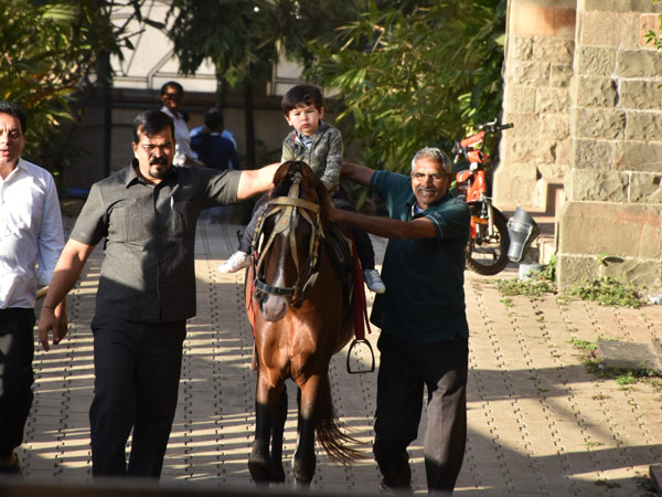 Taimur Continues His Horse Riding Lessons