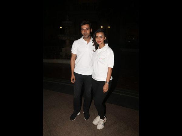 Rajkummar & Patralekha Twin In White