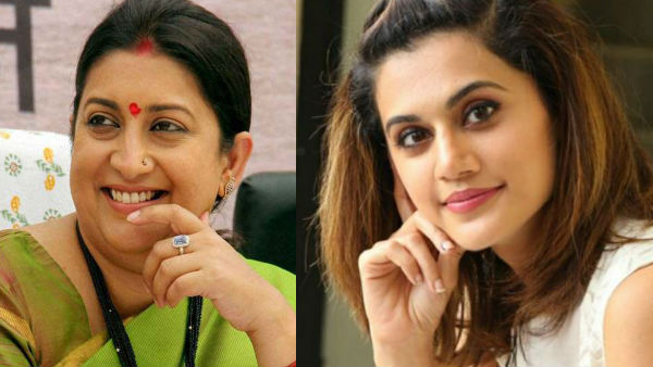Taapsee Reacts To Smriti Irani's Praise For Thappad