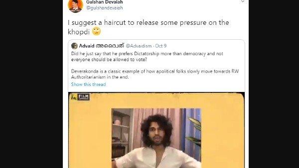 Gulshan Devaya made fun of Vijay's long, unruly hair