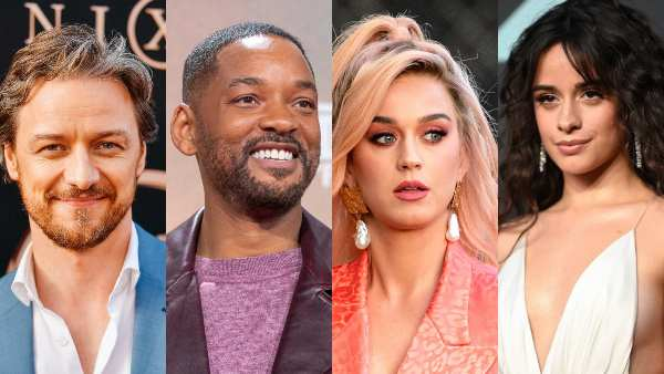 James McAvoy, Will Smith, Katy Perry, camila cabello