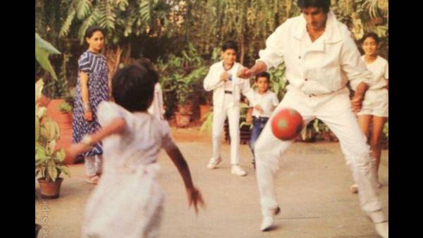 Amitabh Bachchan Shares A Rare Throwback Picture Of Himself Playing Football On National Sports Day