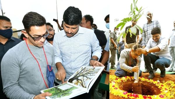 Versatile actor Aamir Khan participates in the Green India Challenge