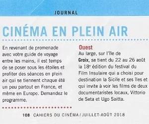 Les cahiers du cinéma - Juillet-Août 2018