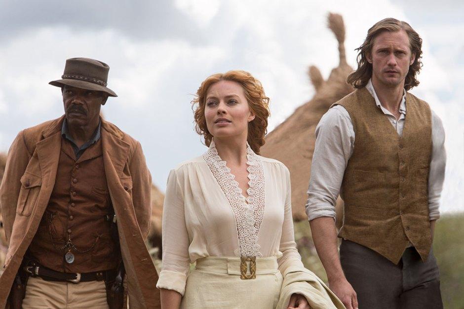 SAMUEL L. JACKSON als George Washington Williams, MARGOT ROBBIE als Jane und ALEXANDER SKARSGÅRD als Tarzan