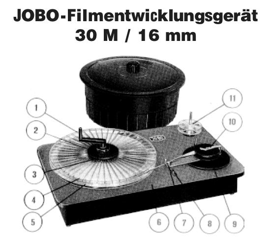 Sehr selten: Das Entwicklungssystem von Jobo. Hochwertig gearbeitet aber erfordert Arbeit im Dunkeln