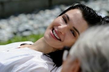 """SET DEL FILM """"LA GIOVINEZZA"""" DI PAOLO SORRENTINO. NELLA FOTO HARVEY KEITEL  E  RACHEL WEISZ. FOTO DI GIANNI FIORITO"""