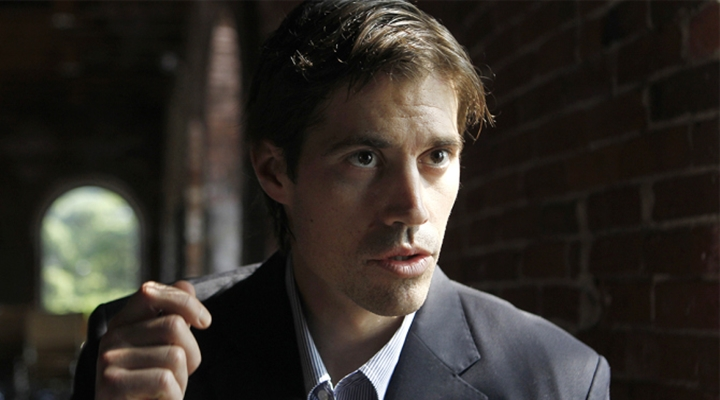 Journalist James Foley, of Rochester, N.H., responds to questions during an interview with The Associated Press, in Boston, Friday, May 27, 2011. Foley, who was working for the Boston-based GlobalPost while reporting on the conflict in Libya, was captured along with two others by Libyan government forces on April 5, 2011. Foley, American freelance journalist Clare Morgana Gillis, of New Haven, Conn., and Spanish photographer Manu Brabo were released by Libyan authorities last week. (AP Photo/Steven Senne)