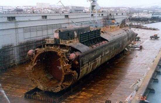 Faciadan sonra Kursk denizaltısının görünümü