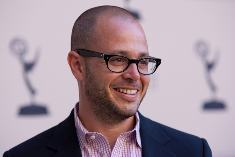 """Lost"" co-creator and producer Damon Lindelof arrives at the The Academy of Television Arts & Sciences' Producers Peer Group Primetime Emmy Awards cocktail reception on Sunday, Aug. 22, 2010, in Beverly Hills, Calif. (AP Photo/Jason Redmond)"