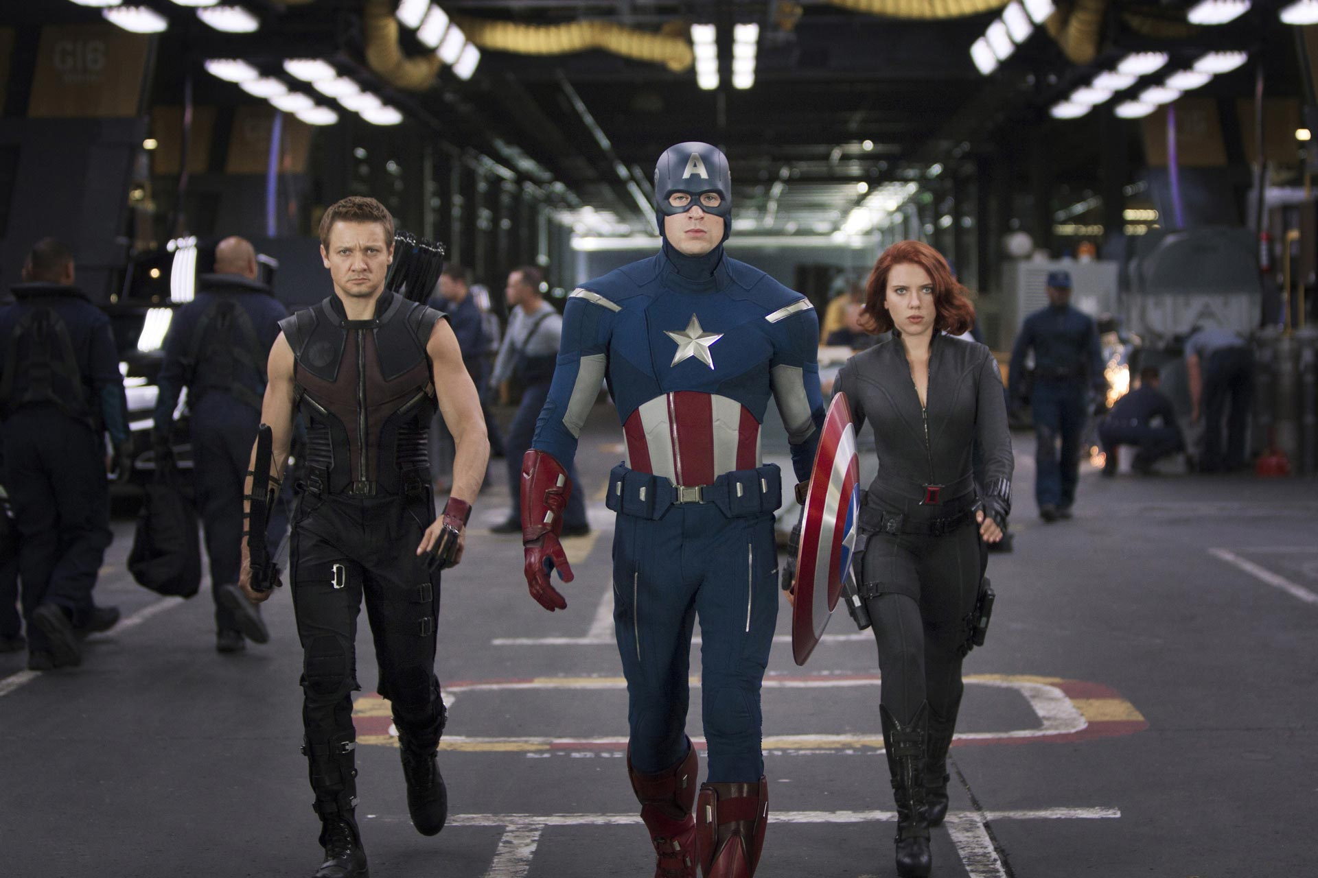 Hawkeye, Cap & Black Widow