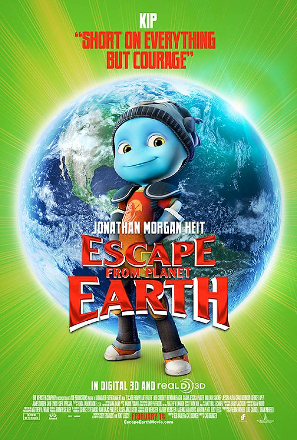 ESCAPE FROM PLANET EARTH 7 Character Posters