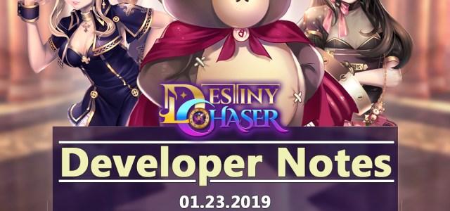 Developing Destiny Chaser: Update 1.0.63