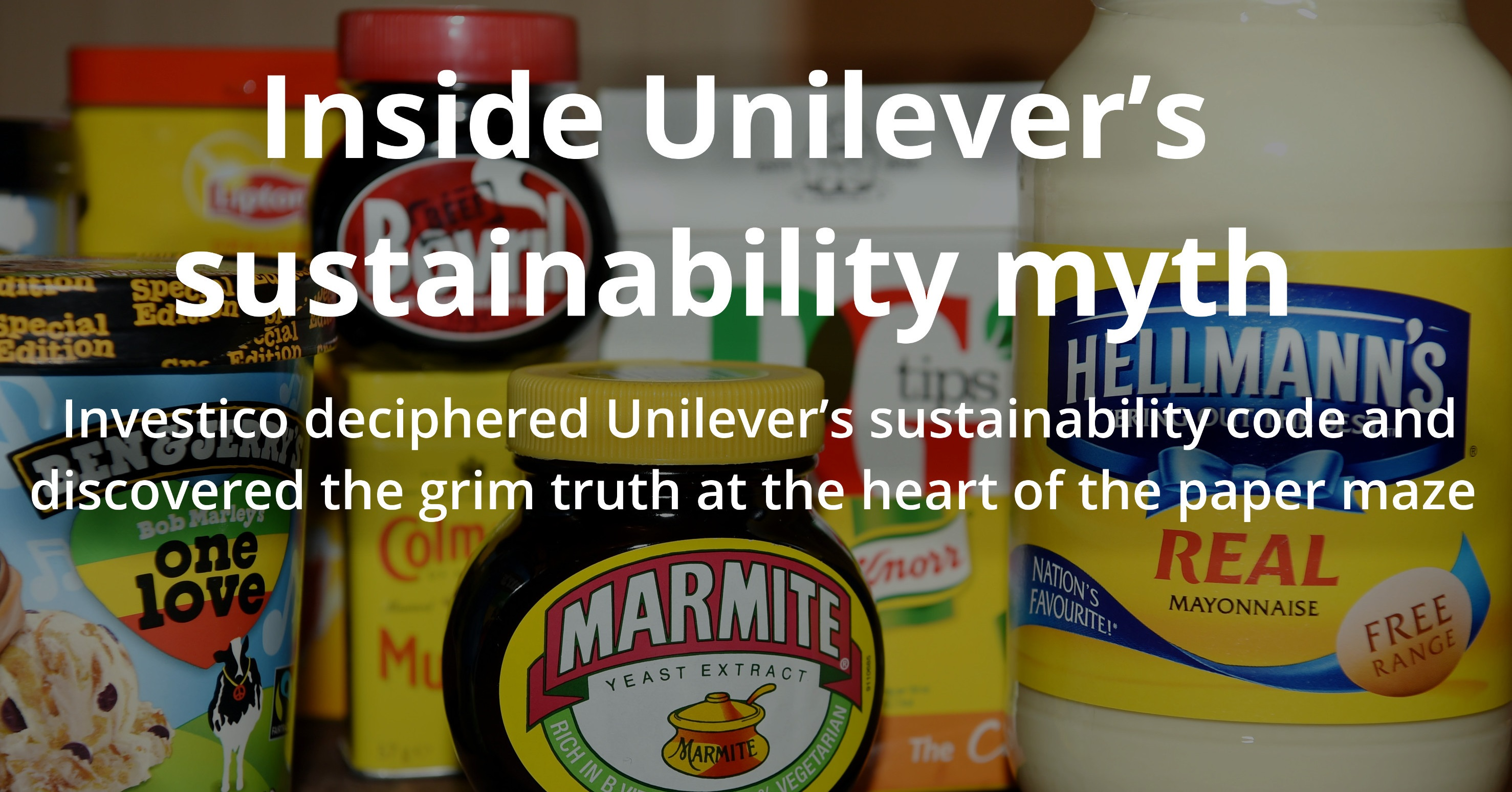 Inside Unilever S Sustainability Myth