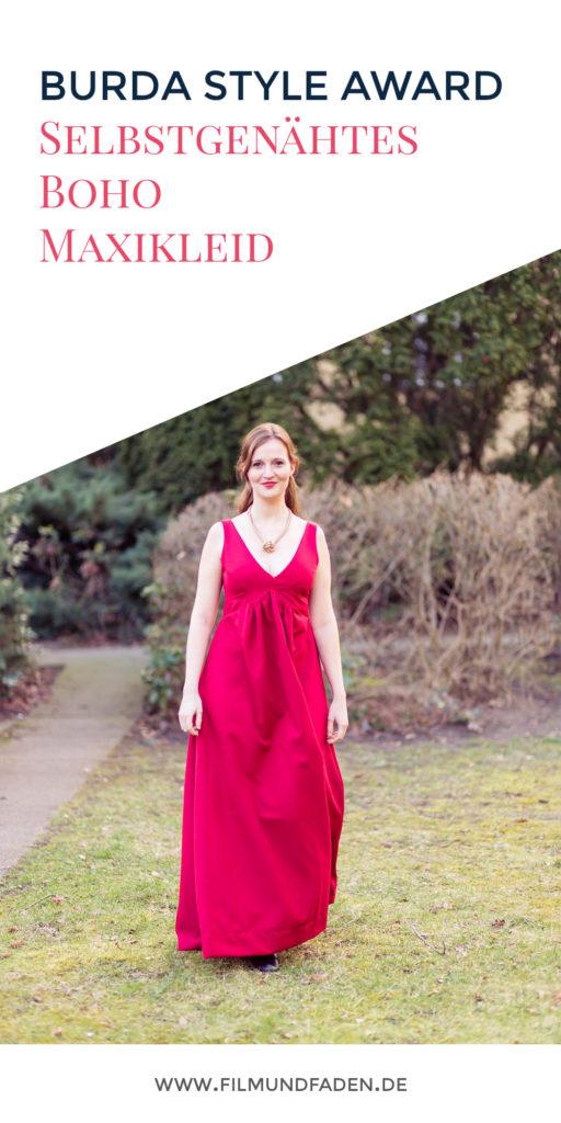 Selbstgenähtes Boho Maxi Kleid zum Burda Style Award 2017