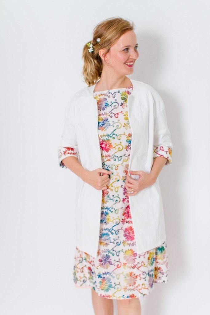 Mein Outfit für die Hochzeit! Selbstgenähter Kastenmantel aus der Burda Easy!