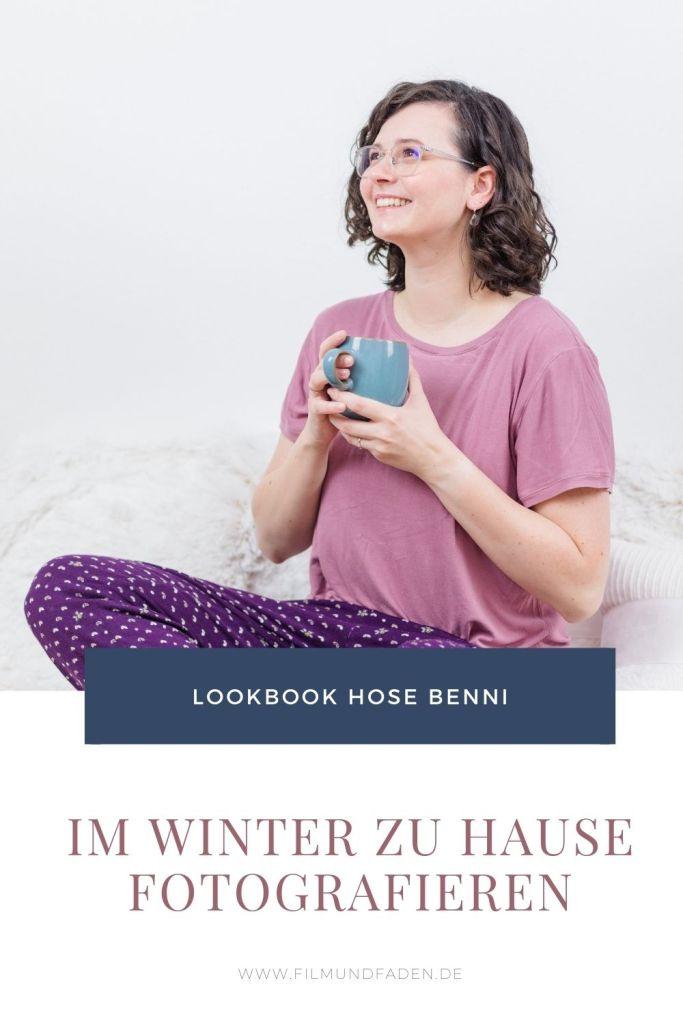 Lookbook Hose Benni - Im Winter zu Hause fotografieren