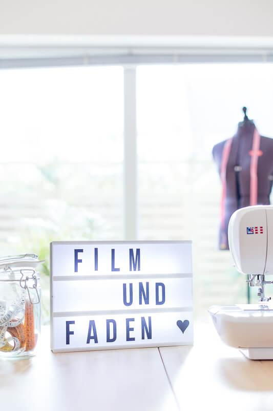Film und Faden in Lightbox
