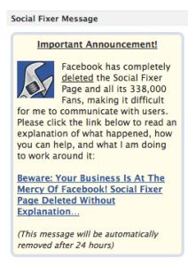 Matt's notice to Facebook users on 09-12-2013