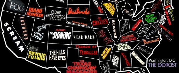 US Horror Map: Karte zeigt wo Horrorfilme in den USA spielen