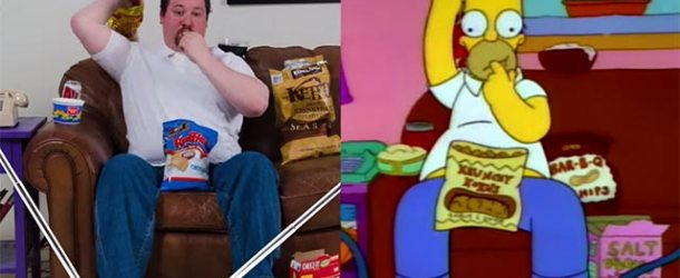 "Futtern wie Homer Simpson – ""Snacking with Homer Simpson"""