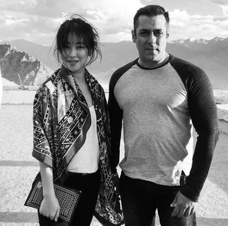 salman khan with chinese actress zhu zhu