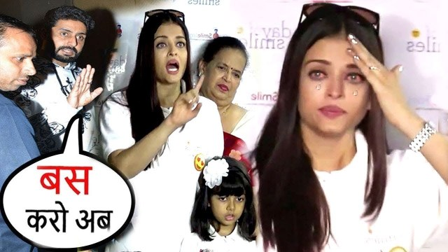 Aishwarya Rai Starts Crying at an Event & Lashes Out As Paparazzi Harass Daughter Aradya Bachchan