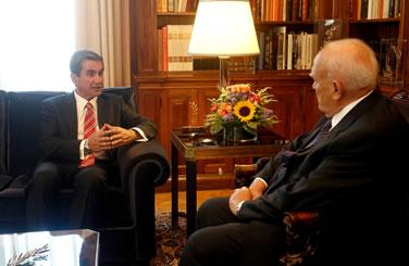 Συνάντηση του Υπουργού Παιδείας κ. Ανδρέα Λοβέρδου με τον Πρόεδρο της Δημοκρατίας