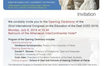 22nd International Congress on the Education of the Deaf