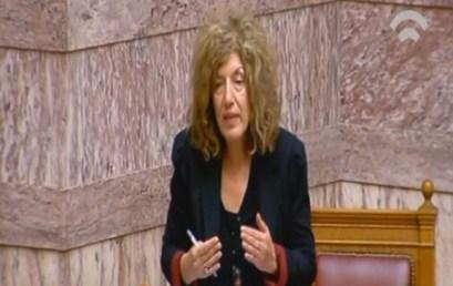 Ρύθμιση για τις μετεγγραφές προανήγγειλε στη Βουλή η Σία Αναγνωστοπούλου