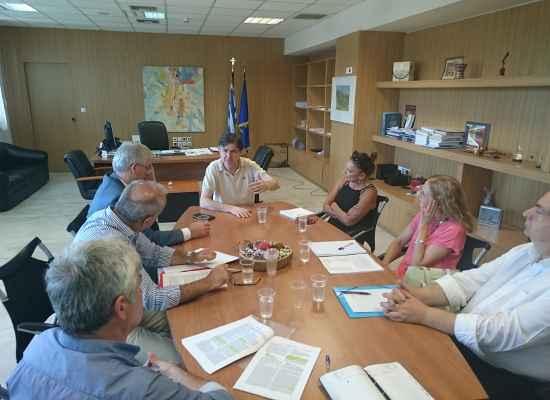 Με εκπροσώπους της ΔΕΗ και της ΕΥΔΑΠ συναντήθηκε ο Υφυπουργός Παιδείας Δημήτρης Μπαξεβανάκης για τη στήριξη του προγράμματος Μαθητείας
