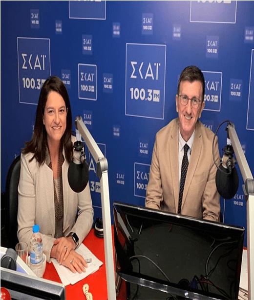 Συνέντευξη της Υπουργού Παιδείας Νίκης Κεραμέως στο Ραδιόφωνο του Σκάι 100,3
