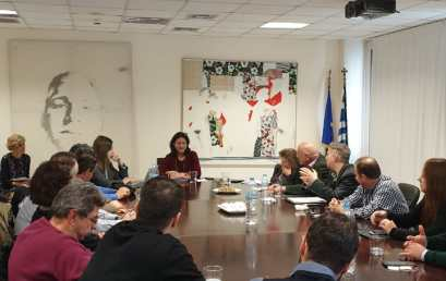 Συνάντηση της ηγεσίας του ΥΠΑΙΘ με το Δ.Σ. της ΟΙΕΛΕ