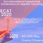 3ο Διεθνές Βιωματικό Συνέδριο Εφαρμοσμένης Διδακτικής: «Νέες Προκλήσεις στην Εκπαίδευση»: Νέες ημερομηνίες διεξαγωγής