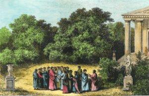 Platón y discipulos en la Academia