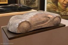 Rétromobile 2015 - Sculpture Bugatti