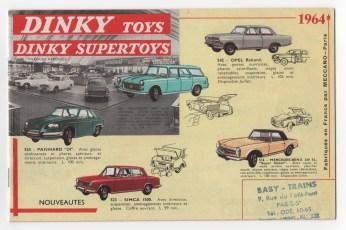 catalogue Dinky Toys 1964