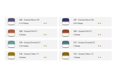 Cokin Creative gradual colors.