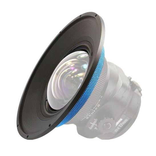 Speciale filterhouder voor de Canon 17mm TS.