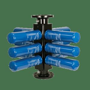 Filtro colector para combustible, con 12 elementos instalados
