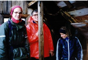 Í gamla skála Fjallamanna 21 júlí 1990
